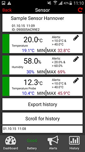 TFA Dostmann SmartHome Temperatur Monitor für Smartphones WeatherHub  31.4001.02 - 2