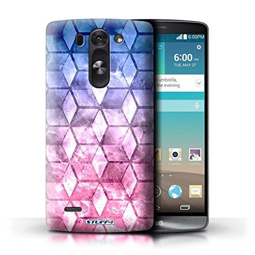 Kobalt® Imprimé Etui / Coque pour LG G3 S (Mini)/D722 / Jaun/Vert conception / Série Cubes colorés Rose
