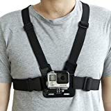 TechSense GoPro Adjustable Chest Strap Mount Body Belt Harness for Action Cameras (Black)