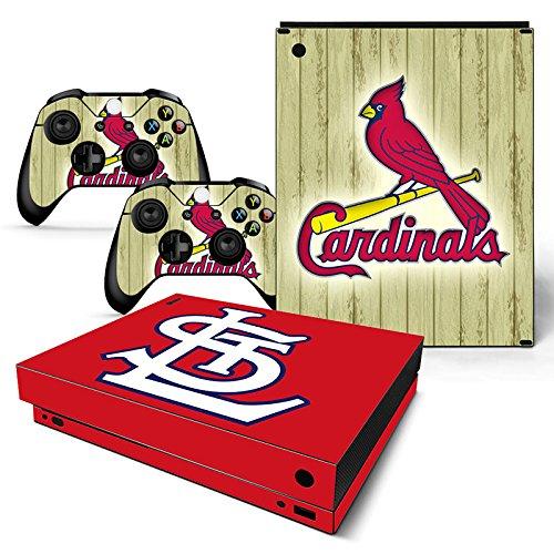 GoldenDeal Skin für Xbox One X Konsole und Wireless Controller, Vinyl, Baseball MLB (Louis St Cardinals-aufkleber)