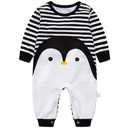 Recién nacido Pijama Algodón Mameluco Niñas Niños Peleles Sleepsuit Caricatura Trajes, 0-3 Meses