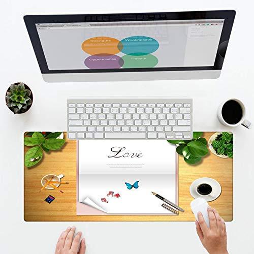 �e Größe Home Office Tapete Mauspad Rechteckig Waschbar Nicht Verblassend Keyboard Player Mauspad Dekorieren Sie Ihren Tisch, 40X8 ()
