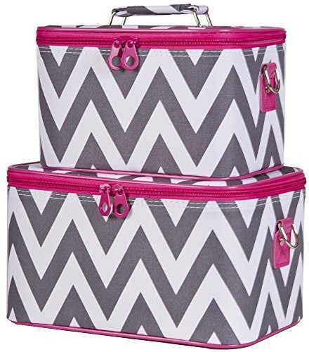 ever-moda-pink-grey-chevron-cosmetic-makeup-train-case-2-piece-set-by-ever-moda