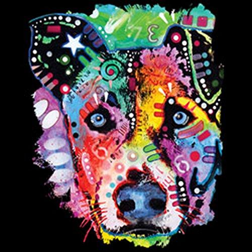 Color T-Shirt Neon Hund Shirt 4 Heroes Geburtstag Geschenk geil bedruckt Schwarz