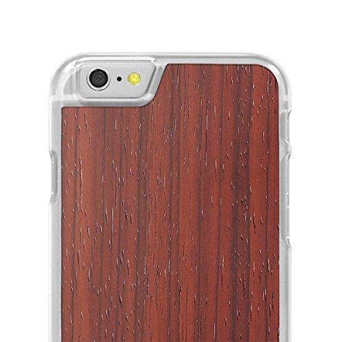 Cover-Up #WoodBack Hülle aus echtem Holz in klar für iPhone 6 / 6s - Kirsche - Padauk