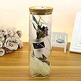 GODRI Wishing Flaschen, Getrocknete Blumen, Vase/Rosen, Lavendel, Liebhaber Glasflaschen/Kork Briefkopf, Treibende Flasche 6.5Cm * 18.5Cm, One
