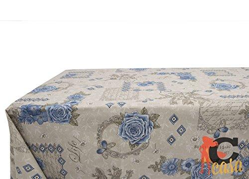 Nappe en coton fantaisie Emy 140x240 bleu
