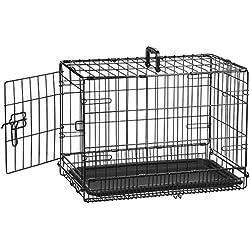 AmazonBasics Cage pliante en métal avec 1porte pour chien - 56 cm