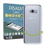 DISAGU 2 x FullFlex pellicola protettiva, pellicola per Samsung Galaxy S8 Plus Rückseite pellicola proteggi-schermo