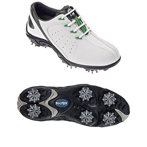Footjoy - Chaussures golf pour enfants 45019 - Blanc/Vert, 36.5