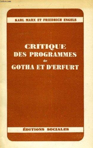 Gotha-programm (Critique des Programmes de Gotha et d'Erfurt.)