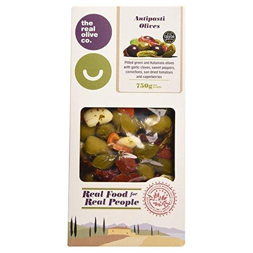 La Co.Réel D'Olive Mélangée Olives Dénoyautées Antipasti (750G)