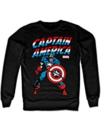 Captain America Sweatshirt (Noir)