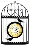 IRON WALL CLOCK BIRDCAGE HANDMADE WEATHERPROOF GARDEN NOSTALGIA - Tinas Collection - the different design
