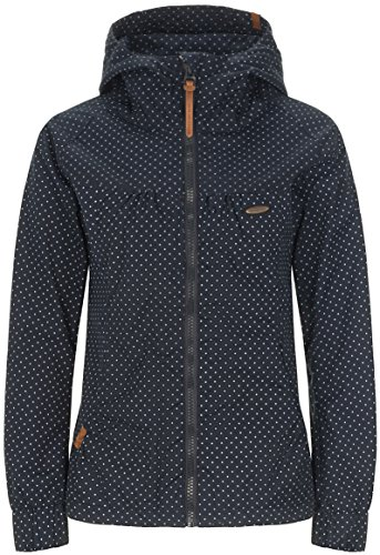 alife & kickin Black Mamba Jacket Damen Übergangsjacke, New Marine Dots, S Blauer Parka