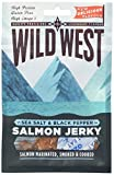Wild West Sea Salt and Black Pepper Salmon Jerky, 30 g, Pack of 12