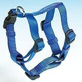 Trixie Premium H-Geschirr, S–M: 40–65 cm/15 mm, blau