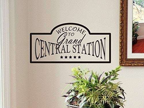 Tiukiu Welcome Wall Decal Living Room Wall Decal Welcome to Grand Central Station Kitchen Wall Decor Decorations Removable Wall Stickers Medium Size -