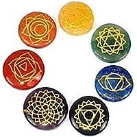 buycrafty Heilung Kristall Indischen Natürliche Reiki Chakra Steine mit Gravur Chakra Symbole, Set 7geschnitzt... preisvergleich bei billige-tabletten.eu
