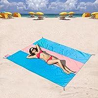 Amate il mare ma odio sabbia getting ovunque? zomake di ultima generazione in nylon Oxford spiaggia copertaÈ la soluzione ideale per mantenere la sabbia fuori. Asciugamano non può avvicinarsi ad esso. Grande, ma così piccoloLa nostra prossima...