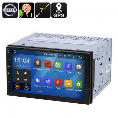 Universal Auto Nissan 2 DIN Multimedia Player - 7 Zoll Display, 5.1 Android, GPS, Bluetooth, Google Play, FM Radi