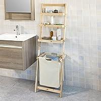 SoBuy®- Estanterías de baño con Cesta y 3 Niveles de Almacenamiento, FRG160-N, ES