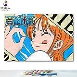 KYKDY Dibujos para colorear de DIY por números con colores Anime One...