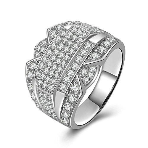 Schaumstoff Kostüm Machen ((Custom Ringe)Adisaer Ring Silber 925 Herren Ringe Linie Kristall Cluster CZ