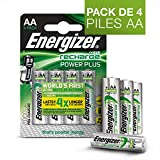 PilesAA rechargeables Energizer RechargePowerPlus, pack de 4