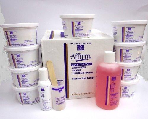 Affirm Sensctive Scalp Kit Relaxer 9 Pack Dry -