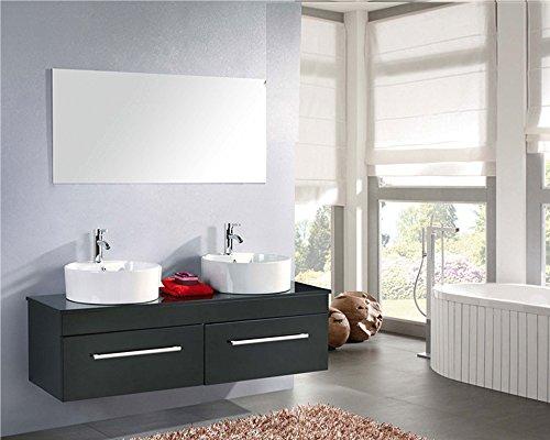 Mobile bagno arredo bagno completo doppio lavabo modello cardellino 150 cm rubinetti inclusi