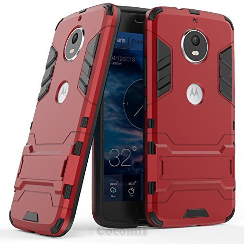 Motorola Moto G5S / G6 Funda, Cocomii Iron Man Armor NEW [Heavy Duty] Premium Tactical Grip Kickstand Shockproof Hard Bumper Shell [Military Defender] Full Body Dual Layer Rugged Cover Case Carcasa (Red)
