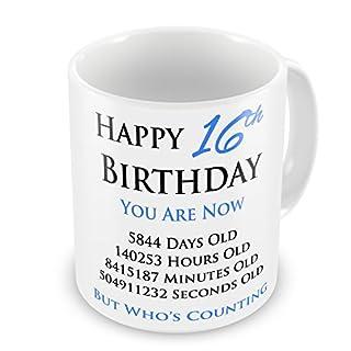 Happy 16th Birthday You Are Now Geschenk-Tasse, Blau