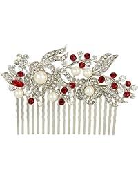 Nunca la FE de Gatsby inspirado de Color marfil perla simulada peine del pelo