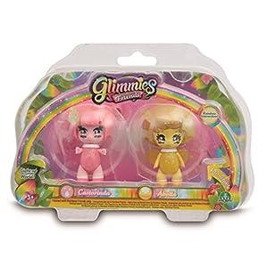 Glimmies - Serie 2 Blister 2 Figuras Castorinda + Abella (Giochi Preziosi GLN01000)