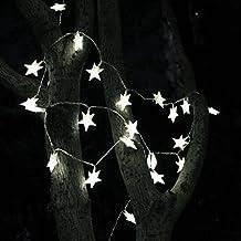 Goodid 10 Metri, 70 LED con Stelle Catena Luminosa Strisce di Luci LED 220V Normative Europee Decorativa da Interni e Esterni, anche per Festa, Giardino, Natale, Halloween, Matrimonio, bar - Bianco
