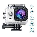 Topjoy F60 4K 16MP Full HD Sport Action Kamera Wasserdicht WIFI Sport Kamera 2.0 Zoll LCD mit 170 Weitwinkel Objektiv und Mehrere Zubehör für Outdoor Aktivitäten