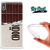 Becool® Fun - Funda Gel Flexible para Bq Aquaris X5 .Carcasa TPU fabricada con la mejor Silicona, protege y se adapta a la perfección a tu Smartphone y con nuestro diseño exclusivo Tableta de chocolate negro