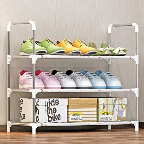 Shoe rack scarpiera_3 strati di 12 paia, armadio scarpiera multi-strato per uso domestico, semplice scarpiera di montaggio semplice
