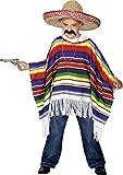 Smiffys Déguisement Enfant, Poncho, Taille unique, Multicolore, 27210