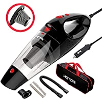 HOTOR Car Vacuum Cleaner, DC12-Volt Portable Handheld Auto Vacuum Cleaner for Car - Black & Red