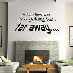 herzii Star Wars–Vinilos adhesivos de vinilo para joven habitaciones Home Decor Wall Mural Póster DIY extraíble