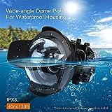 Sea Frogs Port dôme Grand Angle pour Sony A7-II (28-70 mm, 16-35 mm, 24-70 mm) Panasonic GH5 (12-60 mm)