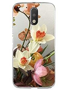 Moto G4 Plus Back Cover Printed Designer Case - Being Floral - Feeling Floral - Hard Case With Transparent Edges