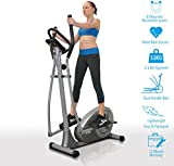 Home Luxury Elliptical Cross trainer CT300, 2016 New Magnetic resistance elliptical fitness Cardio workout with 8-level magnetic adjustable resistance, 5.5KG two ways Flywheel, console display with heart rate sensor and tablet holder. Silver colour