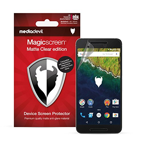 Matte Clear Anti-glare (MediaDevil Google Nexus 6P (2015) Displayschutzfolie: Magicscreen Matte Clear (Blendschutz) Edition [2 Stück])