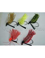 10piezas 10g señuelo de BuzzJigs de plomo cabeza cebos de pesca anzuelos Fish Hook