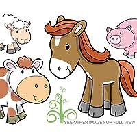 SuperDuperDecor CUTE FARM ANIMALS stickers - SMALL