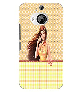 PrintDhaba Cute Girl D-3502 Back Case Cover for HTC ONE M9 PLUS (Multi-Coloured)