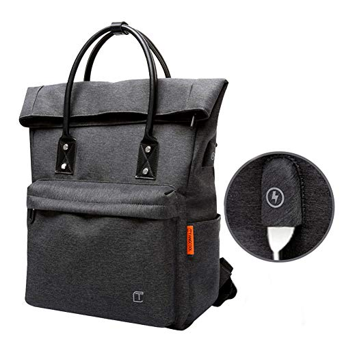 Rucksack Business Handgepäck Laptop Top Rucksack für Herren Damen Jungen Anti Theft Backpack Molle Backpacker Rucksack mit USB-Ladeanschluss Arbeit, Reisen